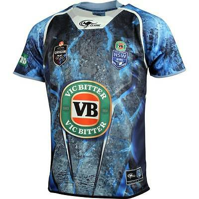 New South Wales Blues State Of Origin Players Training Jersey Sizes S-5XL! 5