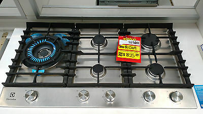 Electrolux EHG995SA 90cm 5 burner gas cooktop stainless steel