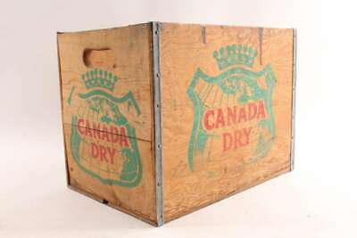 Old Vintage Canada Dry Soda Ginger Ale Advertising Wooden Crate Box