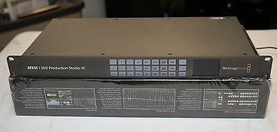 Blackmagic Design ATEM 1 M/E Production Studio 4K/HD SDI Video Switcher EXC COND
