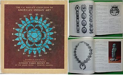 Sothebys catalog CG Wallace Collection of American Indian Art & Jewelry Nov 1975