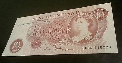 1966-70 Great Britain ~ Bank Of England ~ 10 Shillings Note