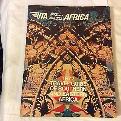 vintage uta french airlines travel guide book 1972 183 pages africa