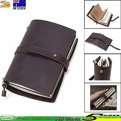 Handmade Real Leather Notebooks Diaries Journals Travel Bound Cover Book Gifts