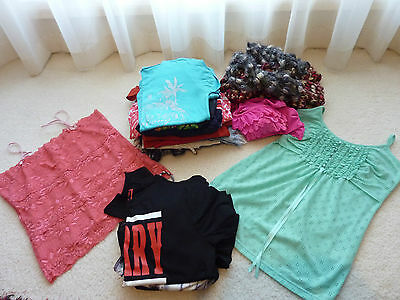 Bulk Lot 20 x Girls Teenager Women's Mixed Clothes Jeans T-Shirts Tops Size 10