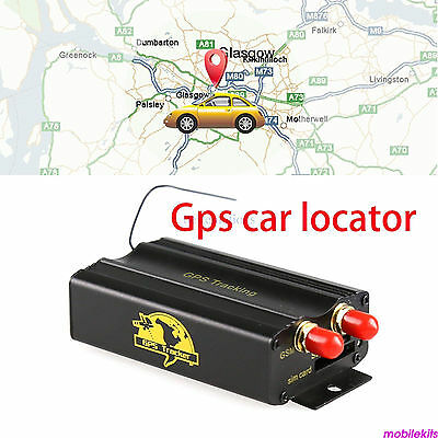 Vehicle Car Tracker TK103A Tracking Device Alarm System GPRS SMS GSM Useful