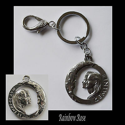 ZODIAC Keyring Pewter GEMINI May 21 - Jun 21 (40mm) Star Sign Key Chain