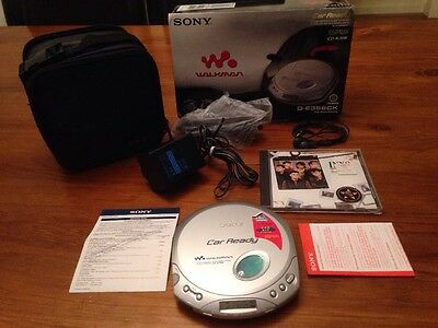 SONY Portable CD Player Discman Boxed D-E356CK Tested And Working Inxs Cd