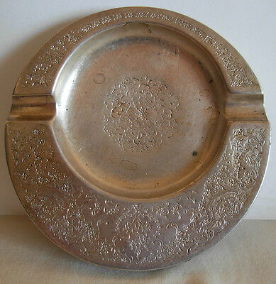 OLD PERSIAN SILVER ASHTRAY , HAND CHASED, 112 grams,    #2