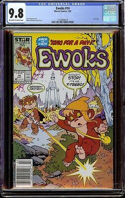 Ewoks # 14 CGC 9.8 OW/W (Marvel, 1987)  Hard to find final issue