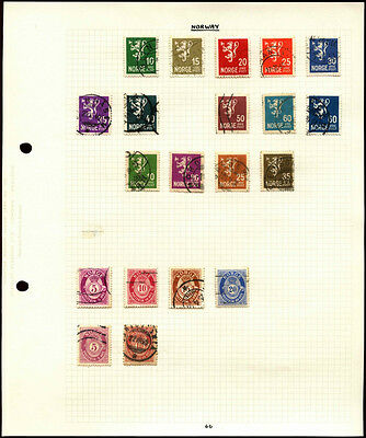 Norway Album Page Of Stamps #V4568