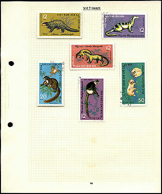 Vietnam Animals Album Page Of Stamps #V4488