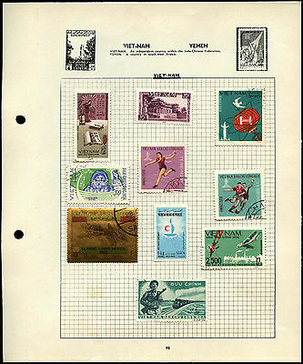 Vietnam Album Page Of Stamps #V4487