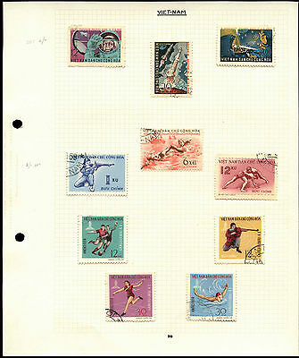 Vietnam Album Page Of Stamps #V4490