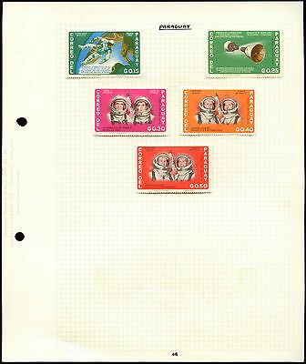 Paraguay, Space Album Page Of Stamps #V4575