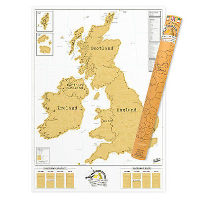Scratch Map® UK and Ireland Poster