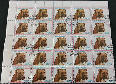 Mozambique 1979, 3e Dogs Part Sheet Block Of 25 Cto Used #V4185