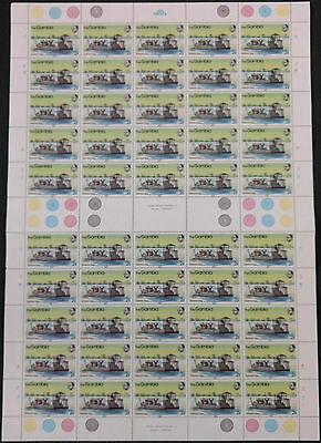Gambia 1983, 2B River Craft MNH Complete Full Sheet Plate 1A, 1B #V4175