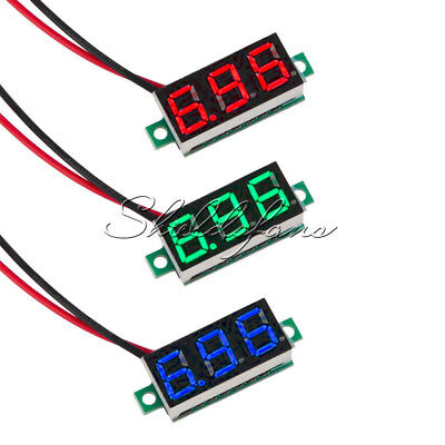 "0.36"" 2 Wire LED Panel Meter Voltage  Digital Voltmeter Red/Blue/Yellow Green"