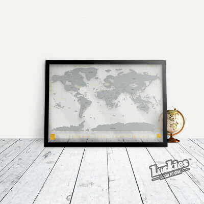 Scratch Map® Clear World Map Poster