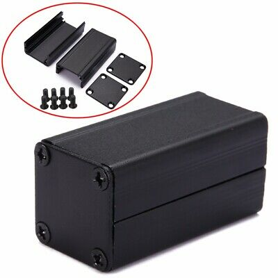 Extruded PCB Aluminum Box Black Enclosure Electronic Project Case DIY 50*25*25mm