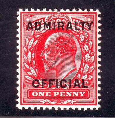 GB EDWARD 1d ADMIRALTY OFFICIAL OVERPRINT