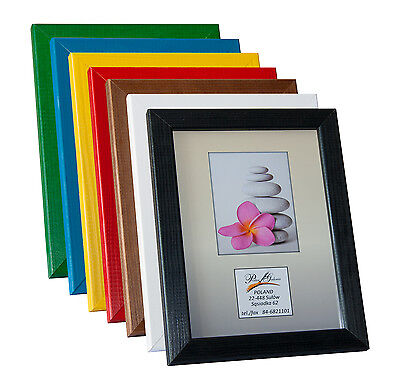 Picture Photo Frame Poster Frames Black White Unpainted 8 colours Large Wooden