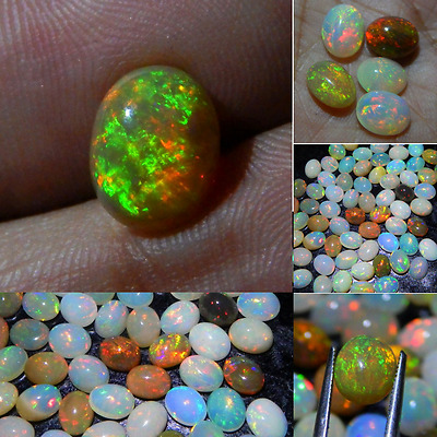 Wholesale-Price Natural Ethiopian Wello Opal Gemstone Multi Fire 10x8 mm Oval