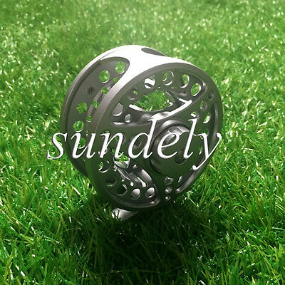 Silver Aluminum Fly Fishing Reel 5/6 85Mm Left Or Right Hand Retreive Au