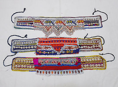 3X Kuchi Belts Afghan Tribal Belts Handmade Vintage Belts Ladies Belts 3HLT-02