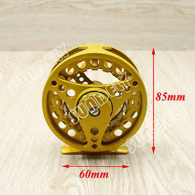 Yellow 5/6 Aluminum Fly Fishing Reel Right or Left Handed 85mm AU