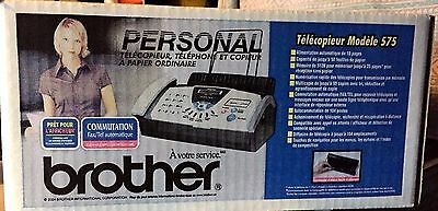 Brother FAX-575 Personal Plain Paper Fax, Phone & Copier_Brand New