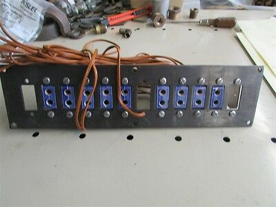 9 Mounted Used Omega Ceramic Thermocouple Jacks with Leads D-16