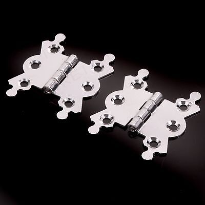 Butterfly Hinges 40mm Polish Chromed ( Sold in Pairs ) Hand Polished Chrome Set