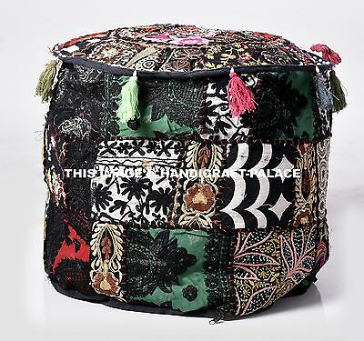 Miraculous Animal Print Ottoman Foot Stool Black White Cowhide Western Alphanode Cool Chair Designs And Ideas Alphanodeonline