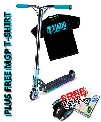 Madd Gear VX7 Team Limited Edition Scooter - Neochrome /Teal + Free MGP T-Shirt