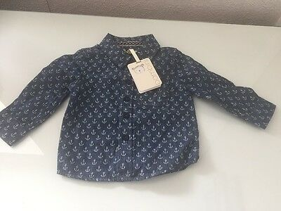 Baby Boy Bambini Shirt 6-9 Months BNWT Anchor Design Lovely/cute Top Free P+P