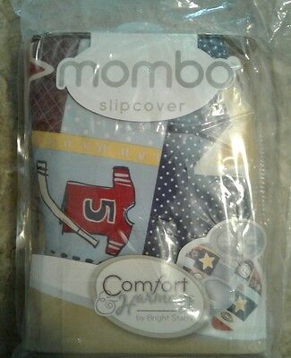 NWT MOMBO Comfort & Harmony  Slipcover double sided Blue All Star Stripes