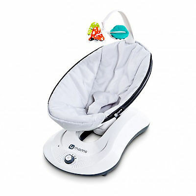 4Moms Rockaroo Rocker / Swing Infant Seat 5 Speeds Mp3 Compatible Classic Grey
