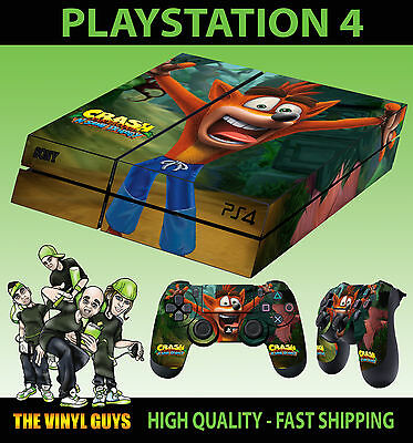 PS4 Skin Crash Bandicoot N Sane Trilogy New Sticker + 2 X Pad decal Vinyl LAY