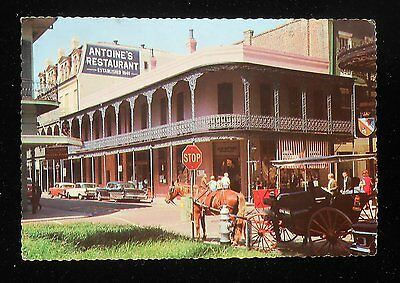 1960s Antoine's Restaurant 713 St. Louis Street Old Cars Carriage New Orleans LA