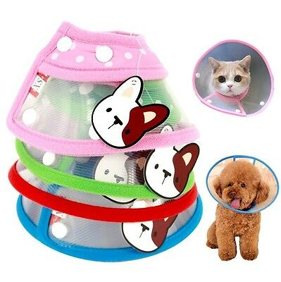 Pet Dog Cat Protective Collar Funnel Cover Anti-Bite Lick Wound Healing Safety