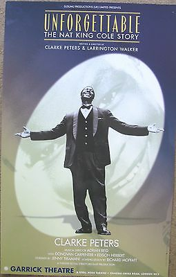 Unforgettable The Nat King Cole Story, Garrick Theatre, 12.5 x 20 Inch Poster