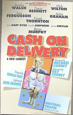 Cash On Delivery, Whitehall Theatre, 1996 Cooney Farce, 12.5 x 20 Inch Poster