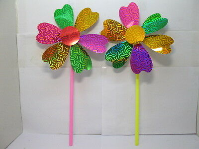20 Shiny Colourful Windmill For Outdoor Funny 40cm