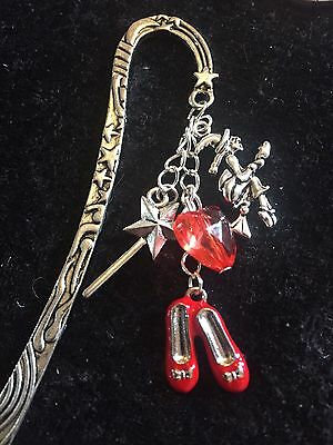 ❤️ Wizard Of Oz Bookmark Ruby Slippers Witch Tinman Heart Gift
