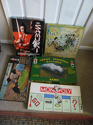 Bundle of 5 Collectable Vintage Board Games  in Used Condition