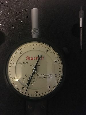 Starrett Dial Indicator Depth Gage No. 644-441 with Padded Case