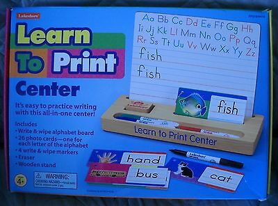 Lakeshore Learning Learn to Print Center - Board, Markers, Display, Cards - EUC!