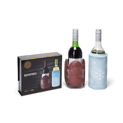 Cellardine Red Wine Warmer & White Wine Chiller Cool Sleeve Gift Set Reusable